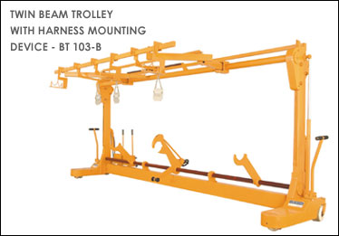 Twin Beam Trolley With Harness Mounting Device - BT 103-B